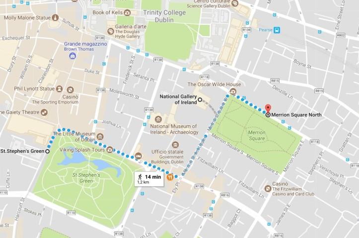 Dublino cosa vedere mappa giorno 4
