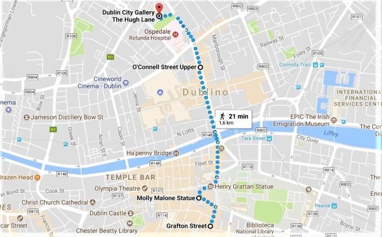 Dublino cosa vedere mappa giorno 1