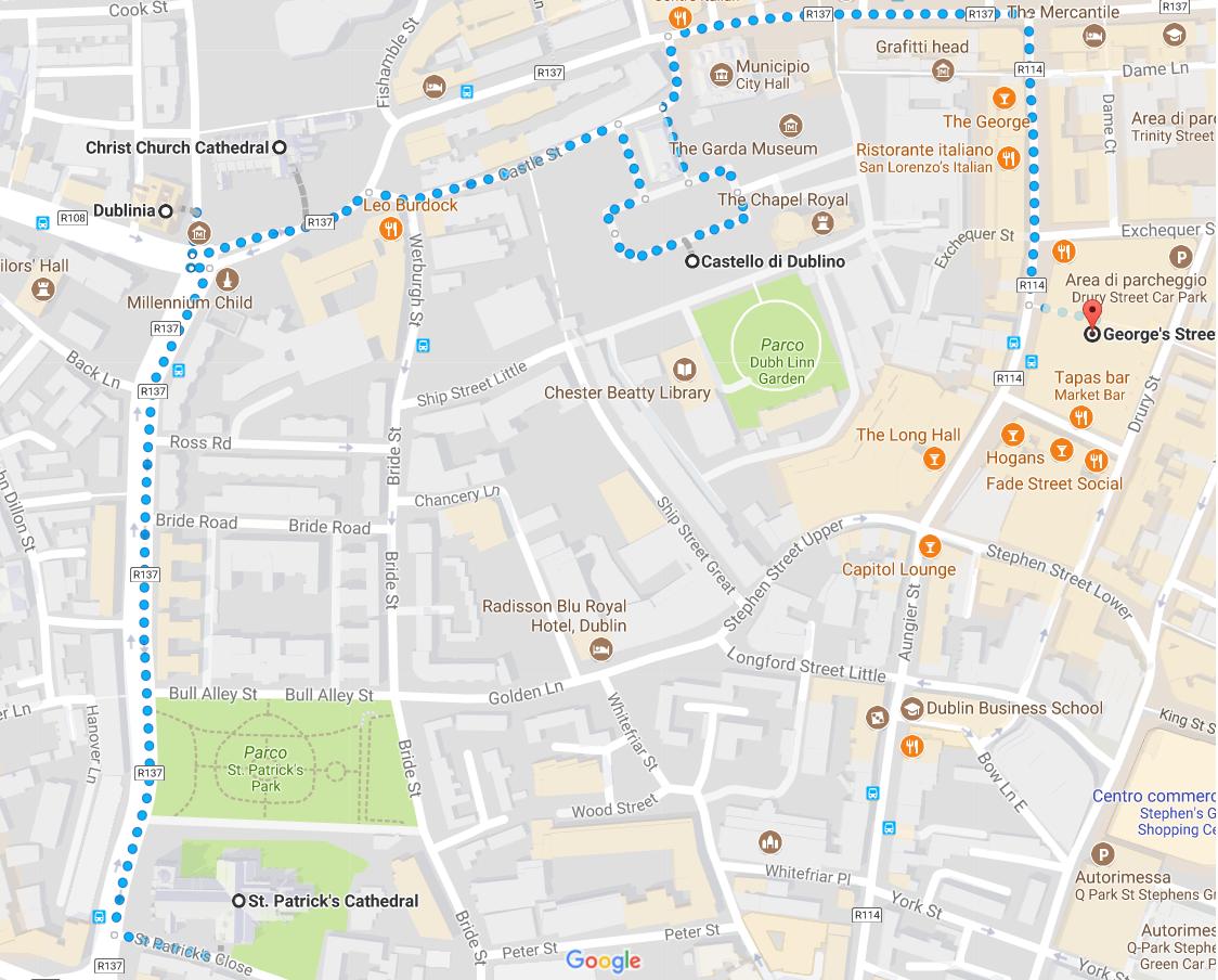 Dublino cosa vedere mappa giorno 2