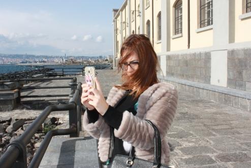 Ammirando il panorama dalla terrazza del Museo di Pietrarsa