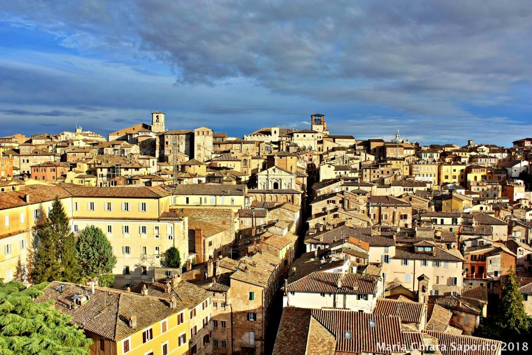 panorama di Perugia dalla Torre degli Sciri