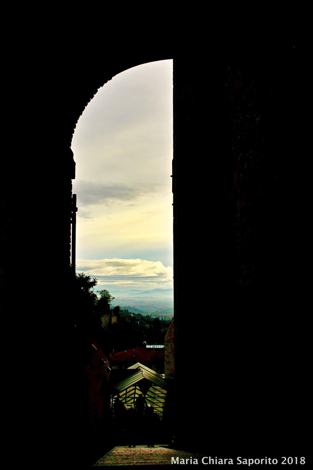 vista panoramica di Perugia da Via dei Priori