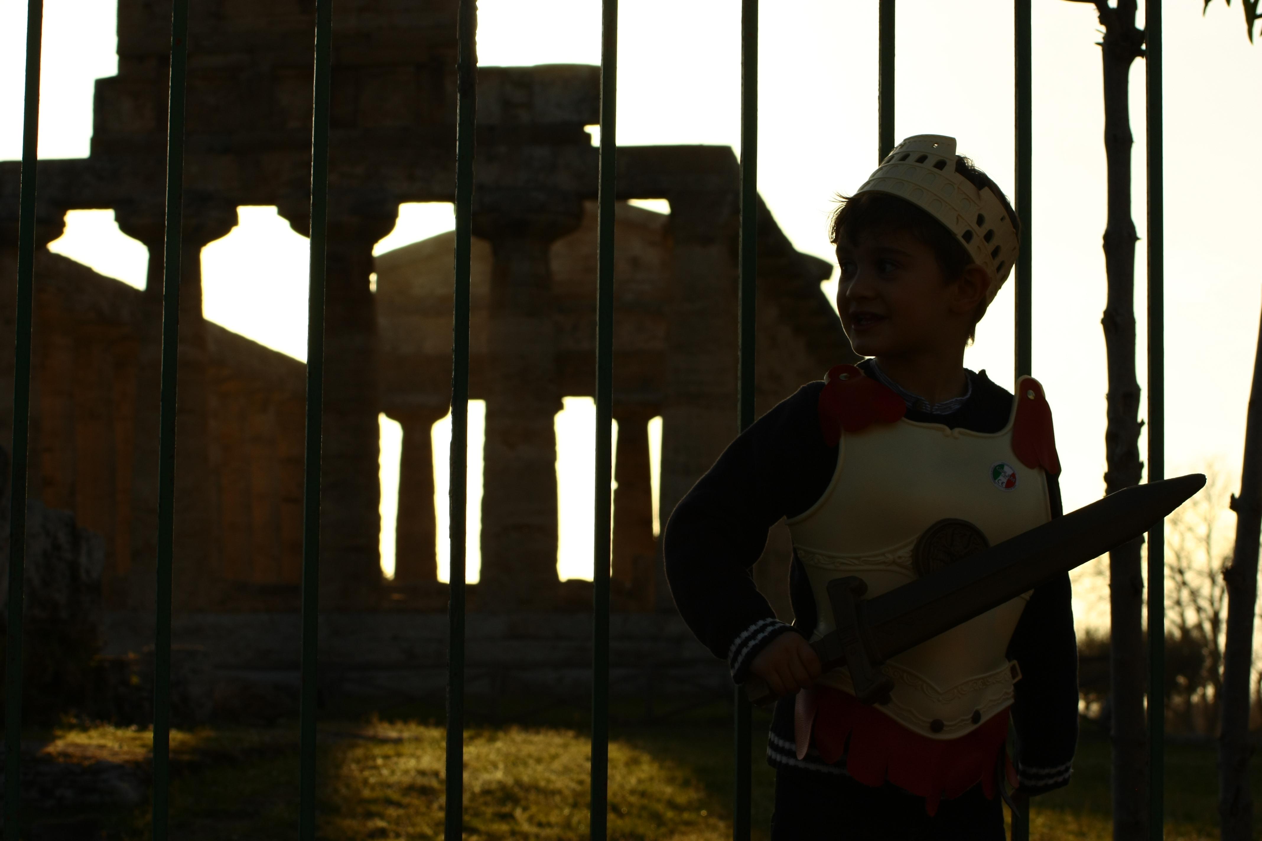 Parco Archeologico di Paestum, un piccolo gladiatore